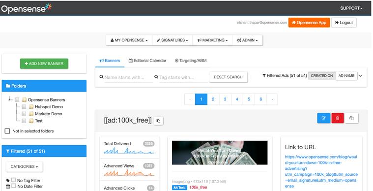Opensense Software - Opensense main dashboard