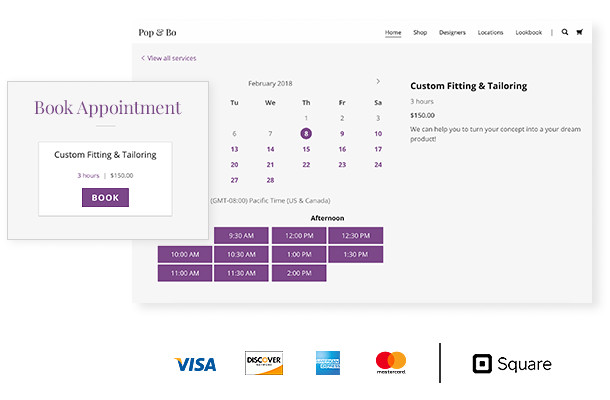 Appointment booking and payment processing functionality can also be added
