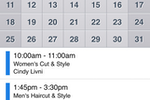 Schedulista screenshot: Side-by-side calendar view