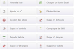 Octopush screenshot: Octopush contact management