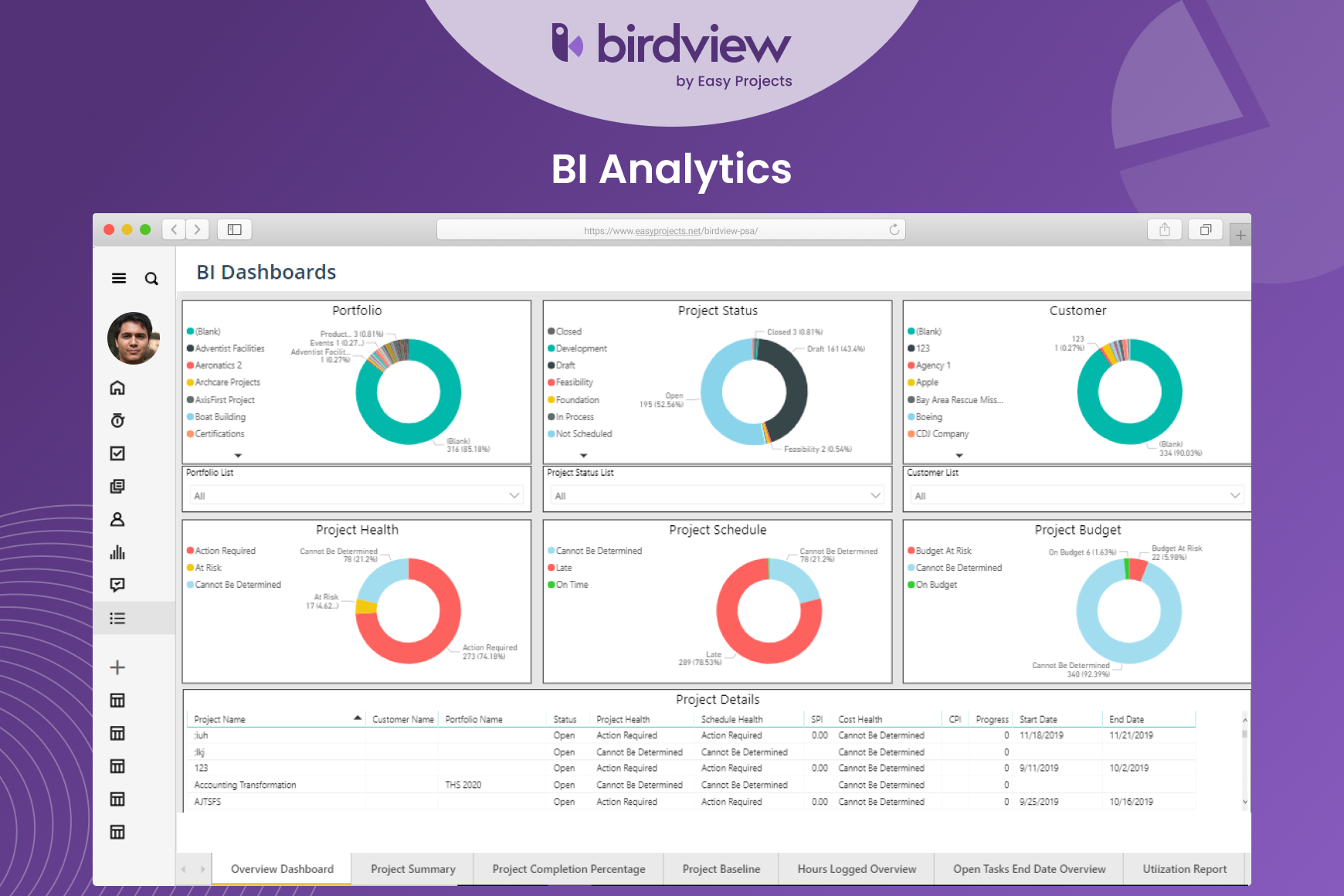 Birdview PSA - BI Reports