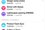 Spike screenshot: Multiple calendars can be combined into a single view