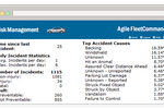 FleetCommander screenshot: The risk management module supports fleet risk and accident management, providing visibility into accidents and claims processing
