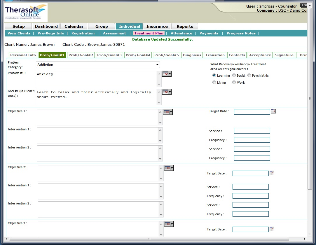 Therasoft Treatment Planner