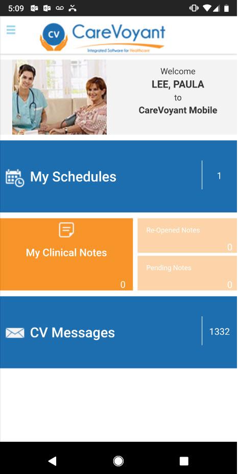 CV Mobile Home Page