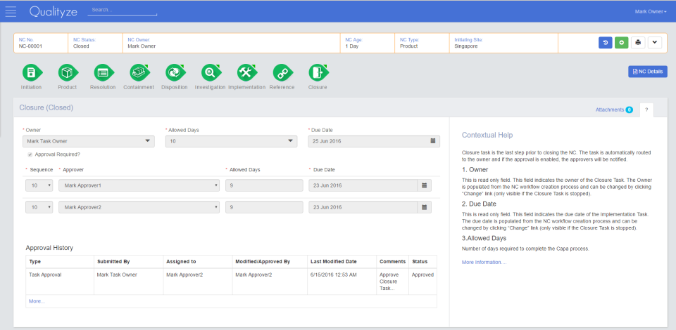 Intuitively monitor open incidents and cases, with audit tools for performing closure and viewing approval histories