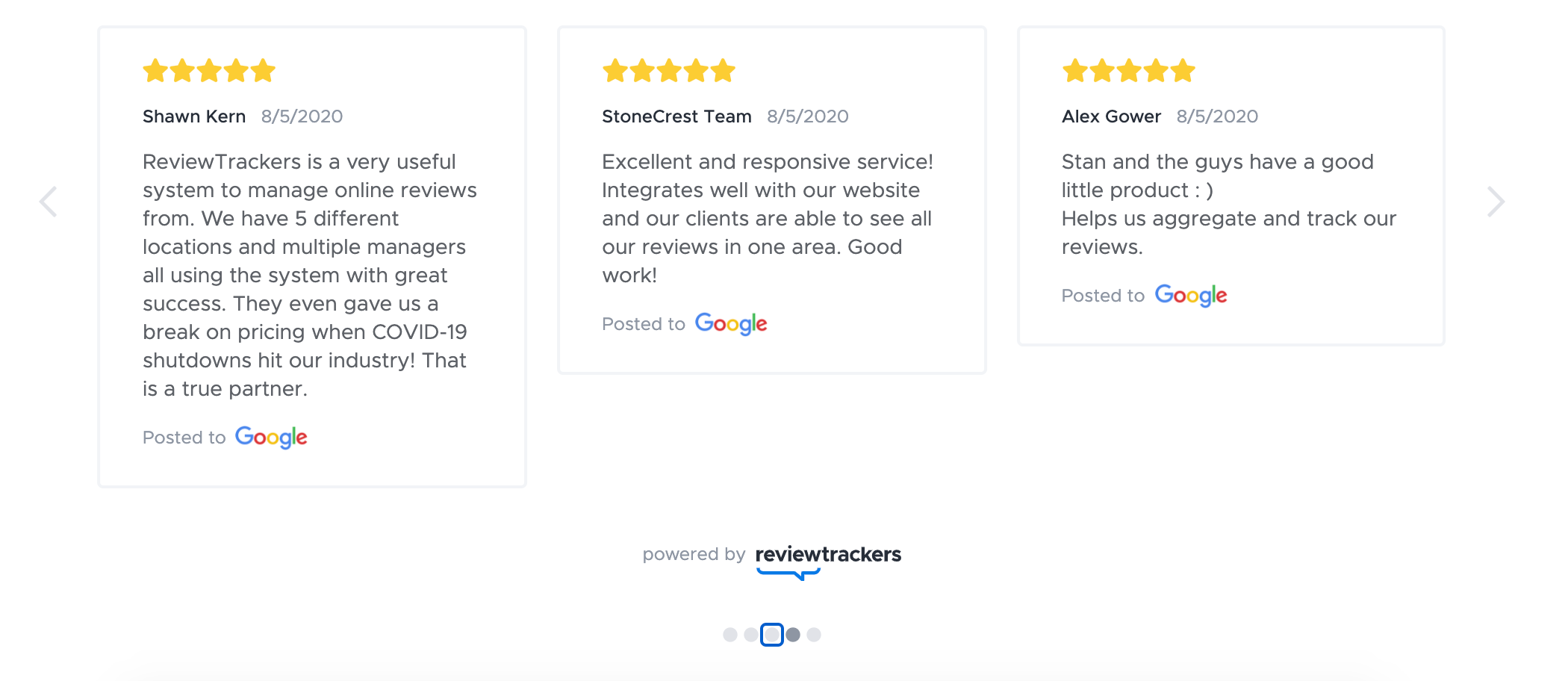 ReviewTrackers Software - 2