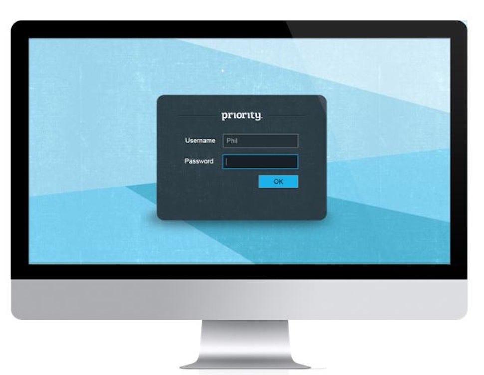 Priority Software Software - Login screen