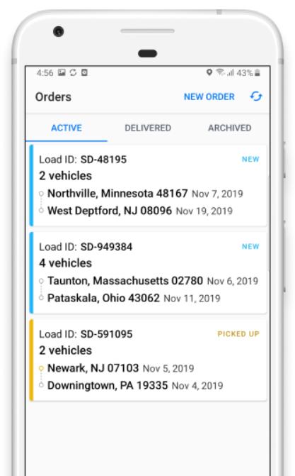 Super Dispatch orders