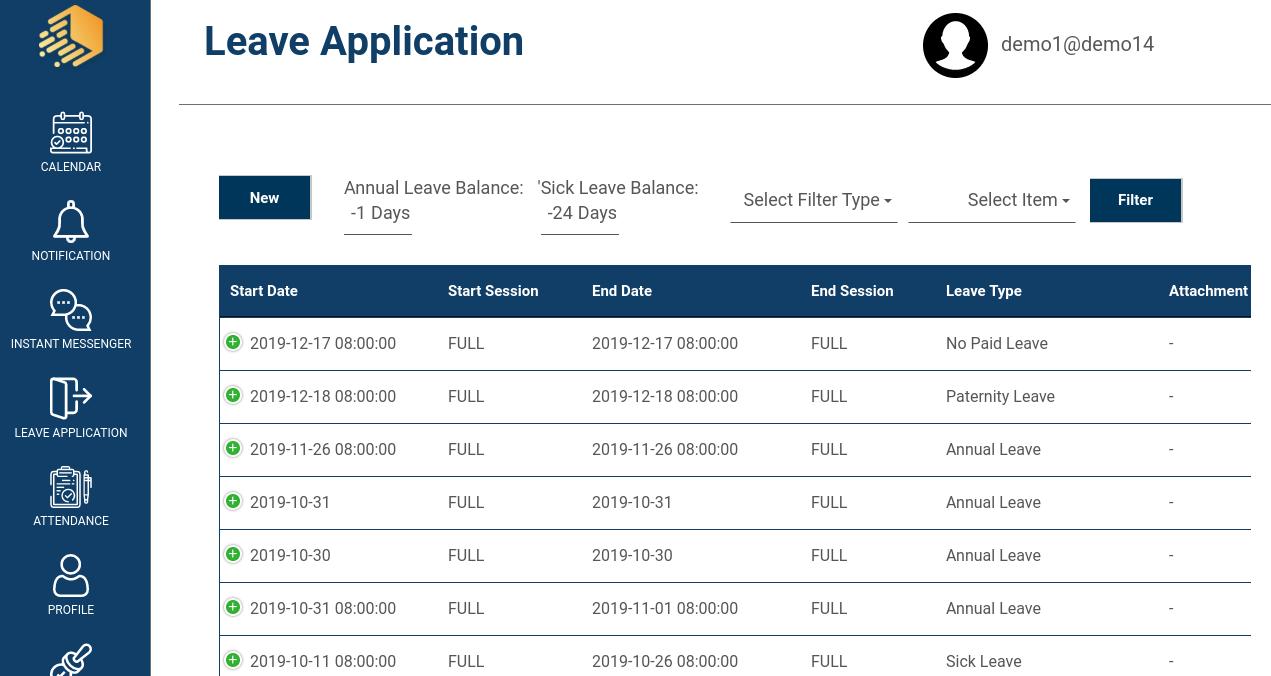 IJS HR leave application