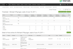 Intervals screenshot: Weekly timesheets