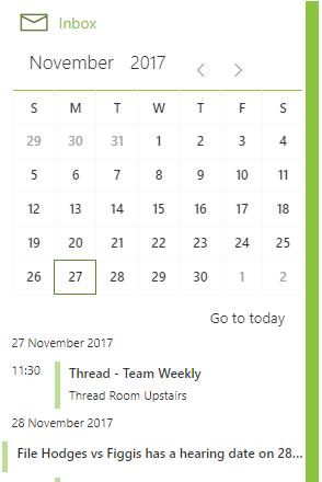 Thread Legal calendar