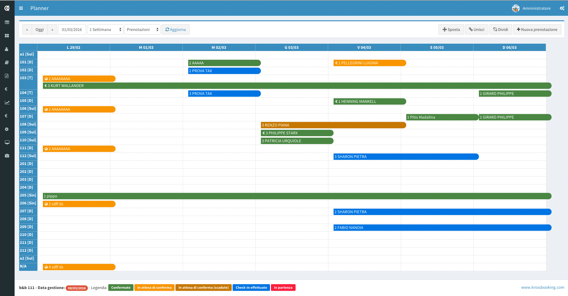 Kross Booking Software - Advanced planner