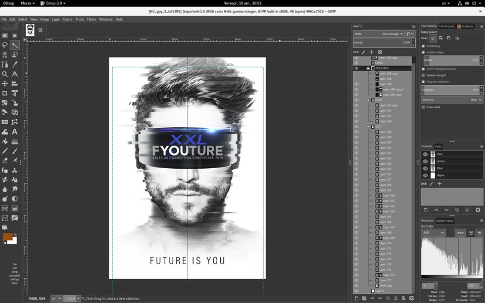 GIMP designing