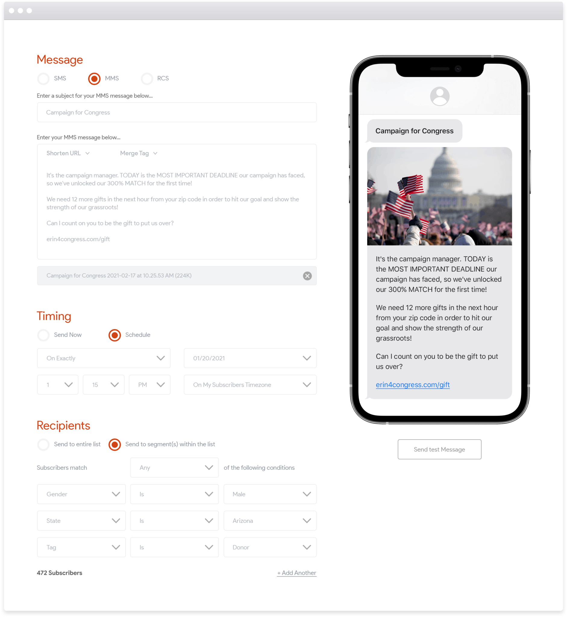 Tatango Software - Tatango Political SMS Interface