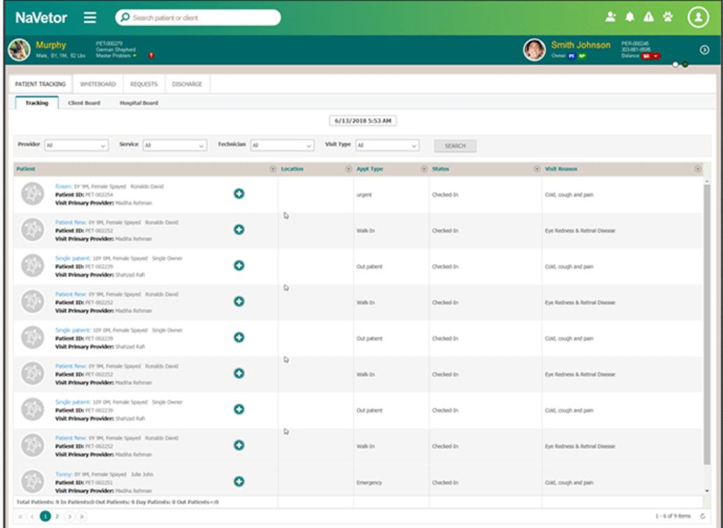 NaVetor patient workflow screenshot