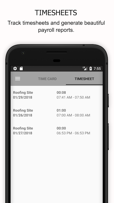 Timesheets can be generated for each employee