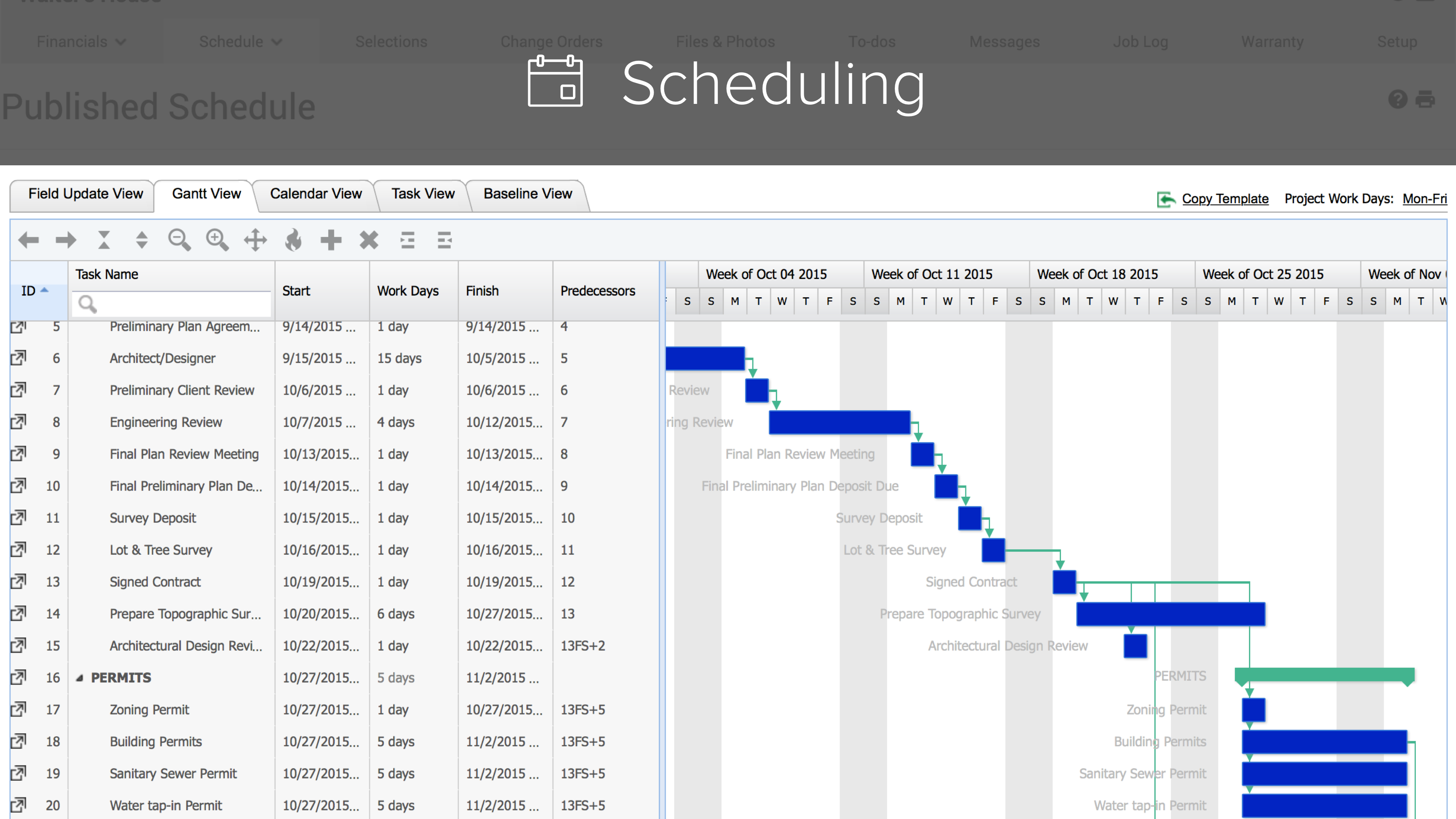 CoConstruct Software - Scheduling