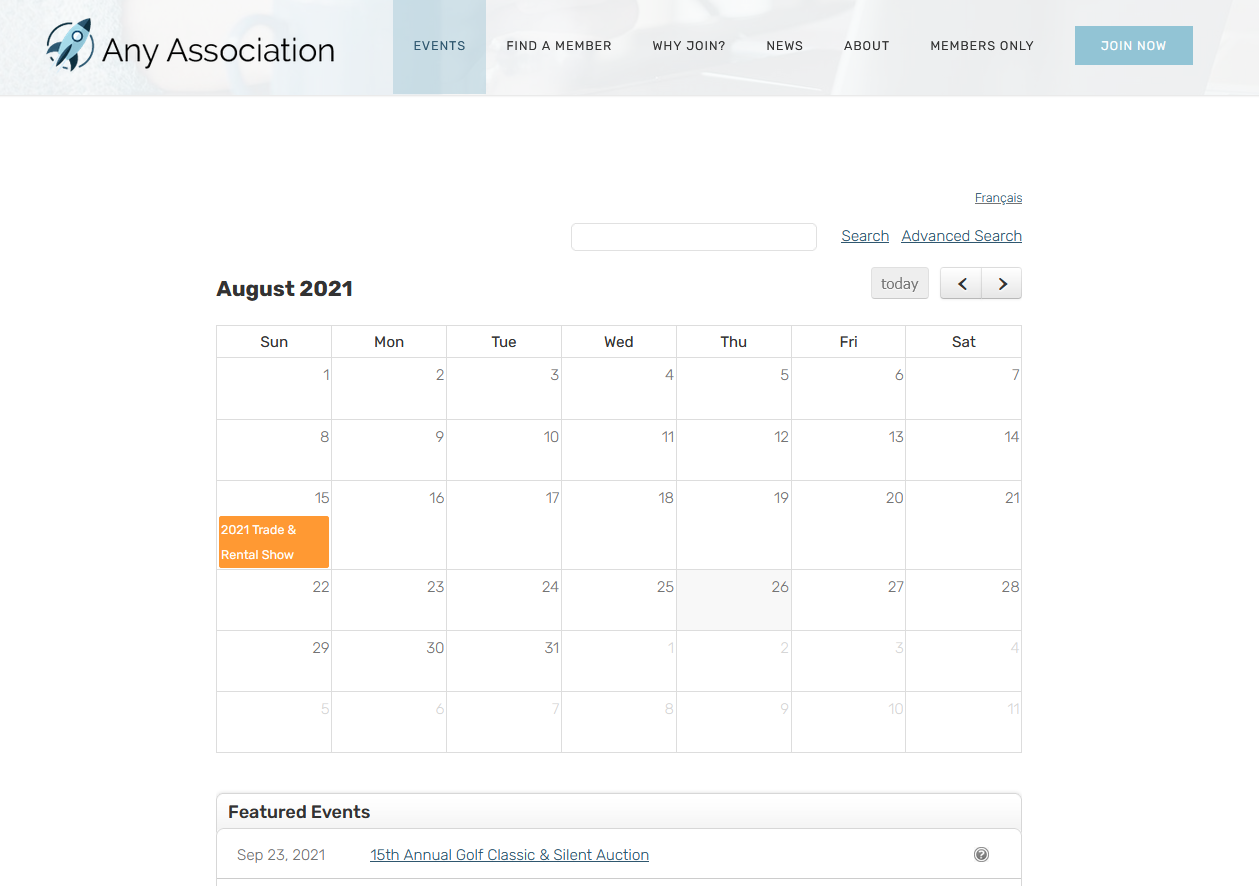 Membee Software - Membee's event calendar & featured event list displays on your site, making it easier for members to stay engaged