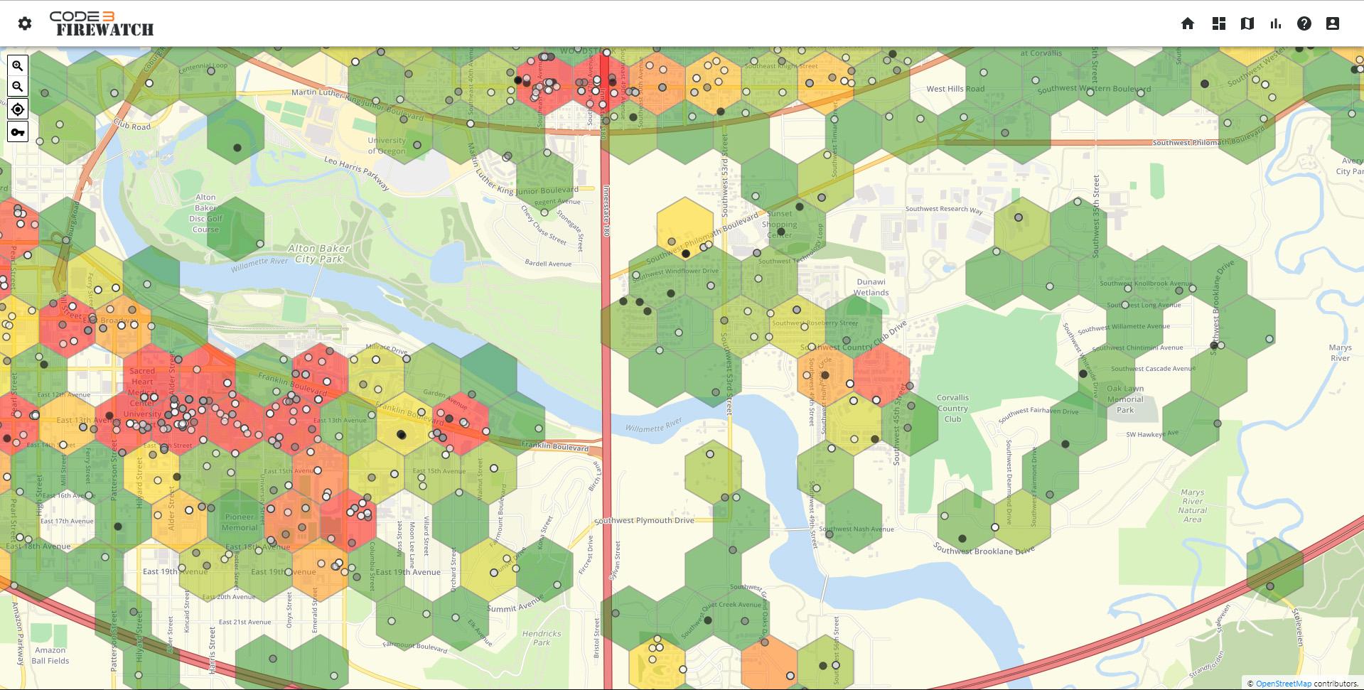 Code3 Firewatch map
