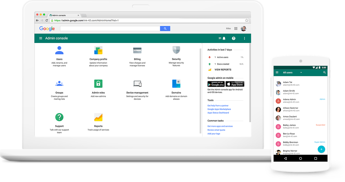 Google Workspace Software - Protect company data and devices with single-sign-on & two-factor authentication options