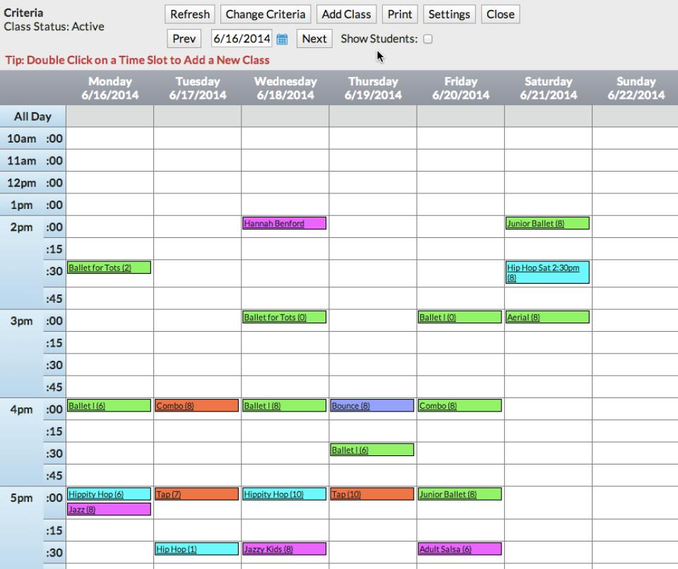 Jackrabbit calendar