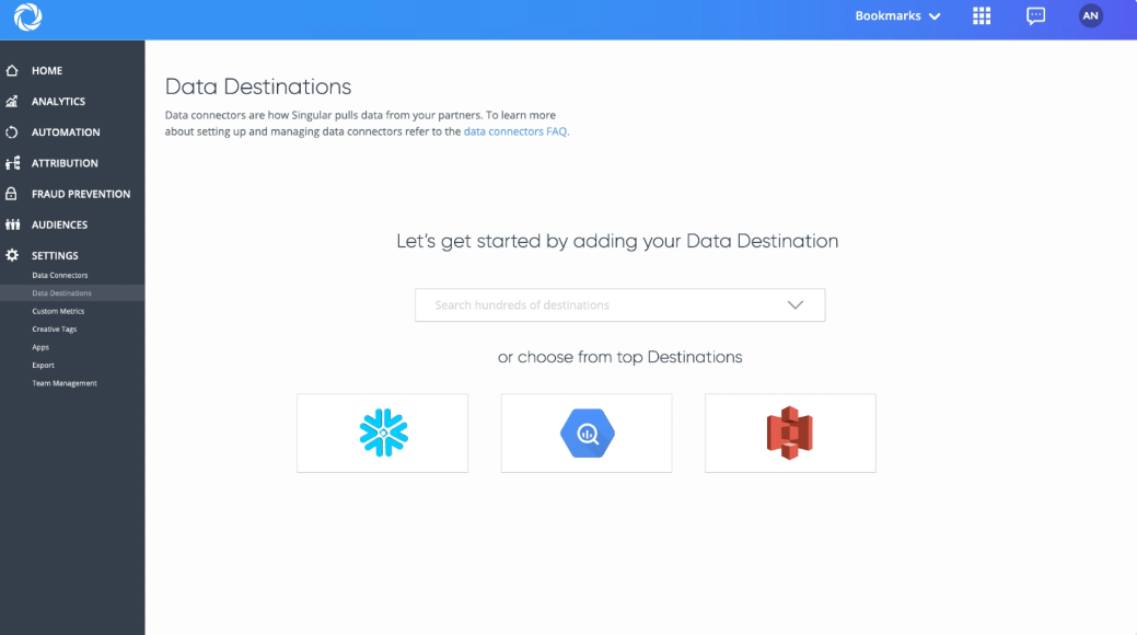 Singular Software - Singular data destinations