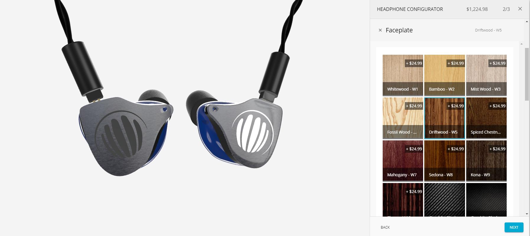 Earplugs - materials customization, 3D rendering