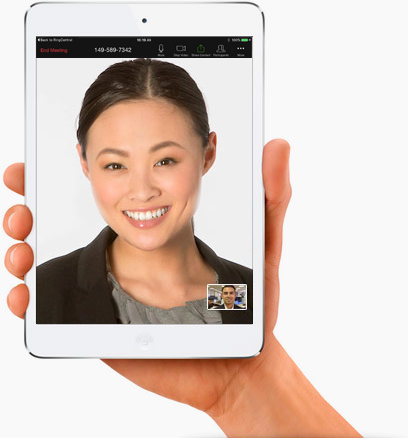 The platform supports video conferencing and visual voicemail