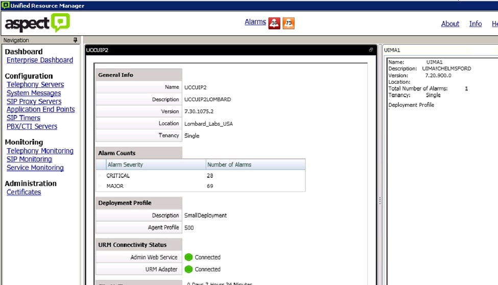 Aspect Unified IP Software - Unified resource manager