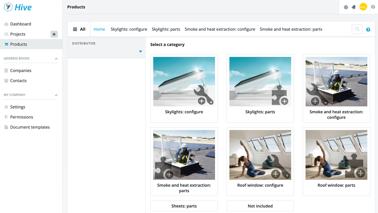 Product Store in HiveCPQ: let users find the products they need by adding a webshop-like environment with your products, product information and visuals.