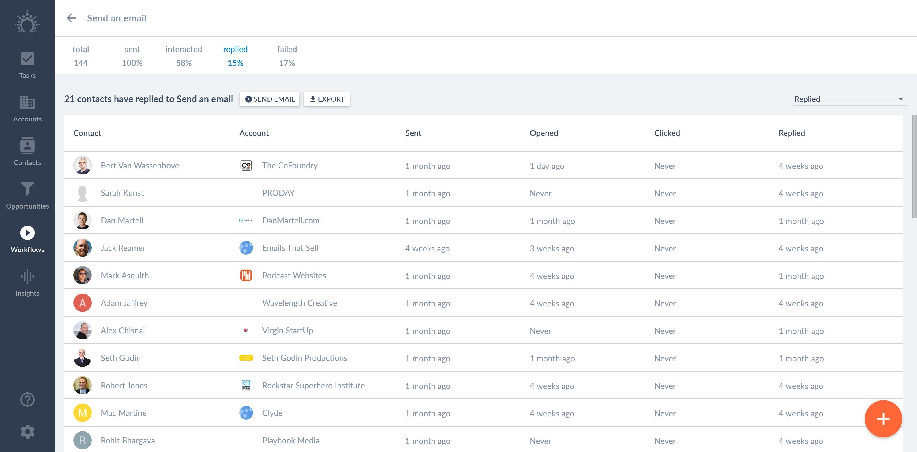 Salesflare Software - Track your emails