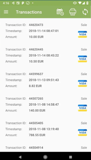 PayXpress mPOS transactions