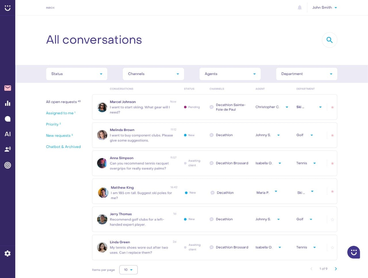 Heyday Software - Heyday conversations