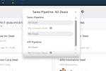 Teamgate screenshot: deals multiple pipelines sales