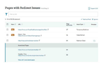 Moz Pro screenshot: Redirect issues can be filtered by URL