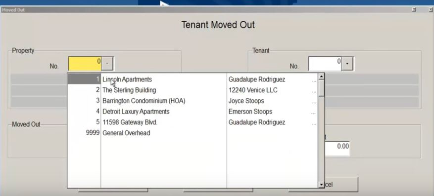 Tenant moved out process