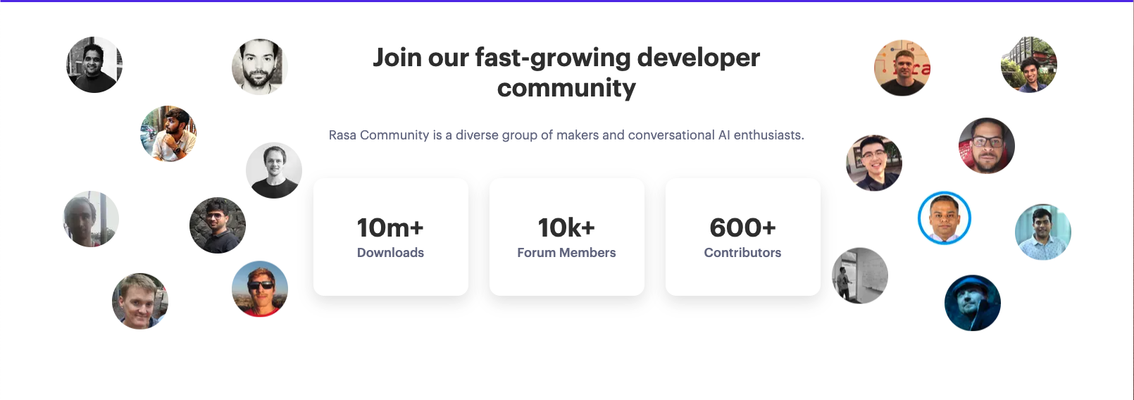 Rasa has been downloaded 10+ million times and is loved by developers around the world