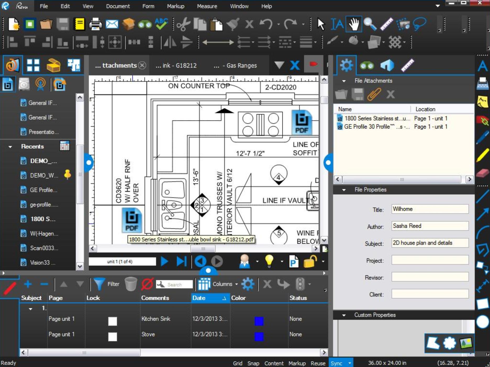 Bluebeam Revu Software - Bluebeam Revu - File attachments