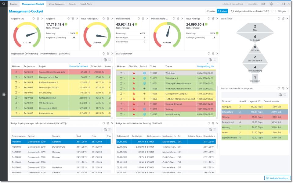 Vepos screenshot: Vepos control panel