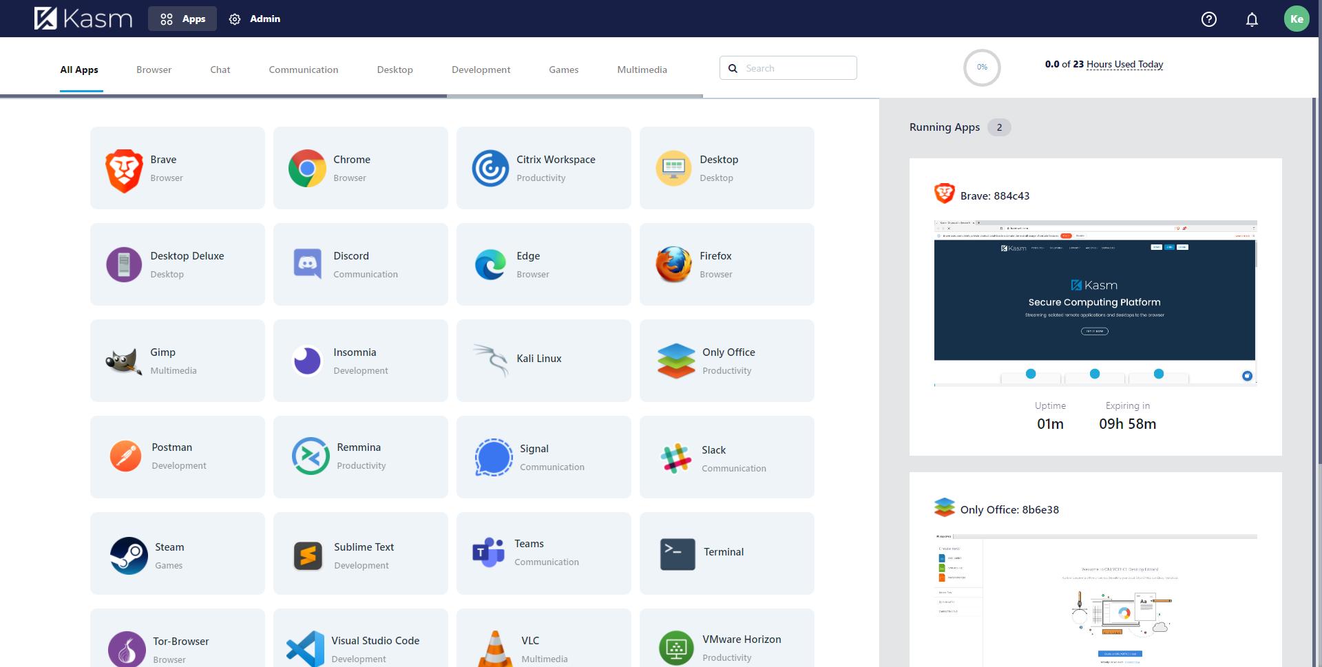 Kasm Workspaces Software - 1