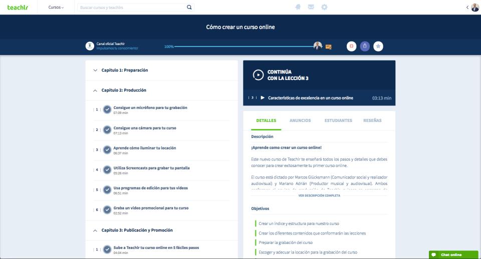 Teachlr Organizations Software - Descripción de curso