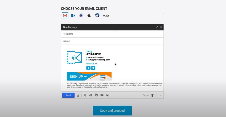 Newoldstamp choose email client