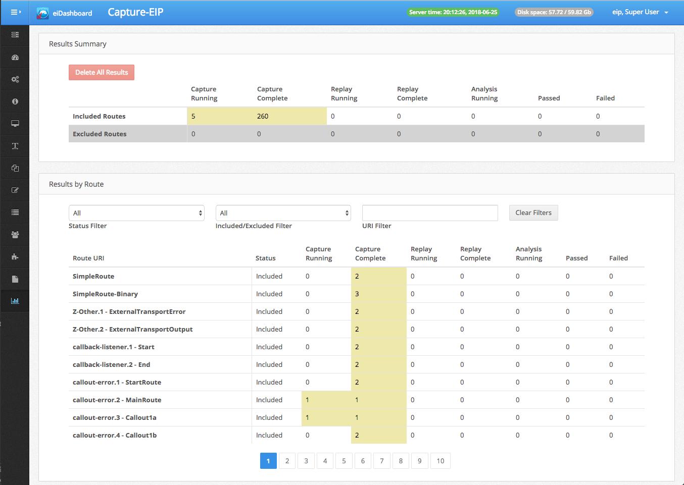 eiPlatform result summary screenshot