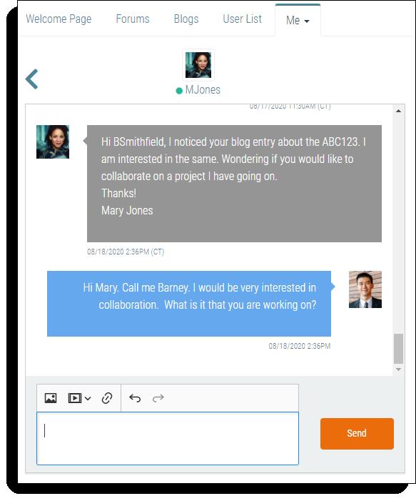 I4A-Communities send direct messages