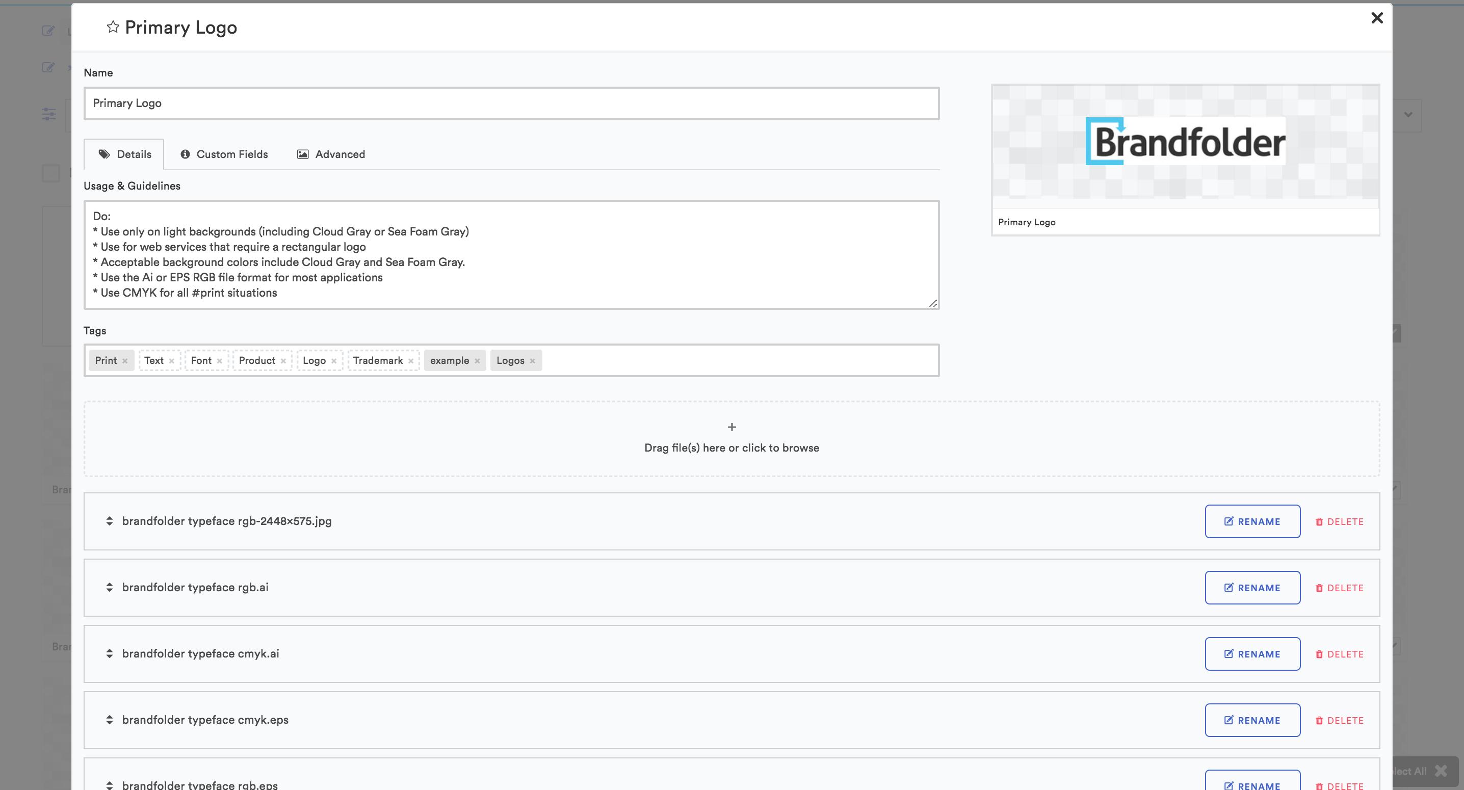 Brandfolder Software - Edit assets