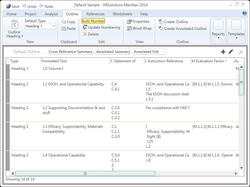 Compliance matrix