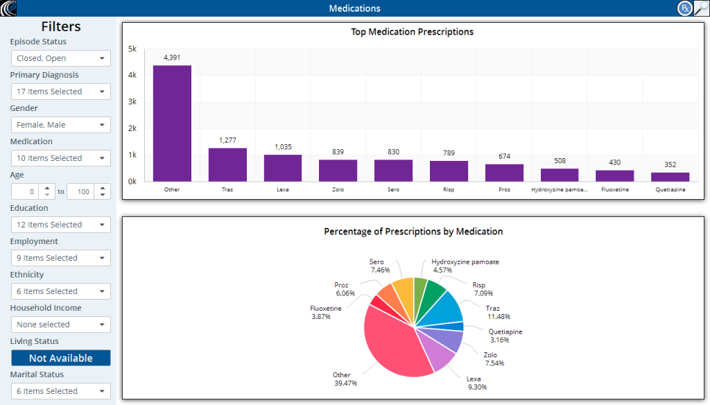 EchoVantage filters screenshot