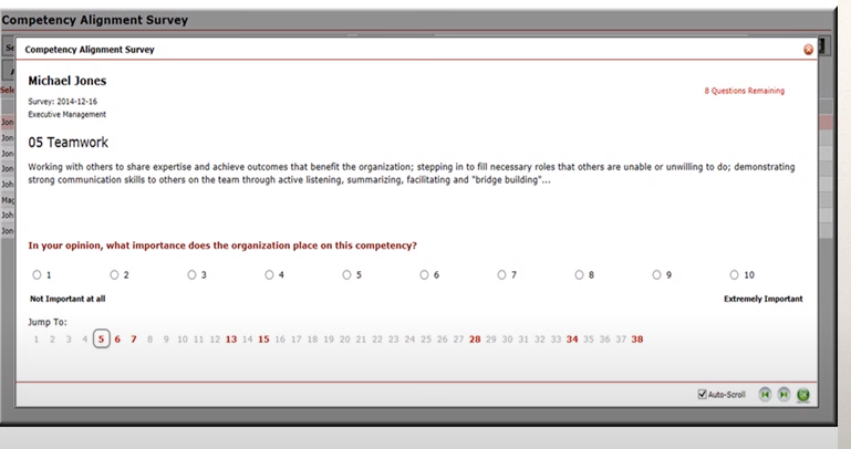 Encompassing Visions competency alignment survey