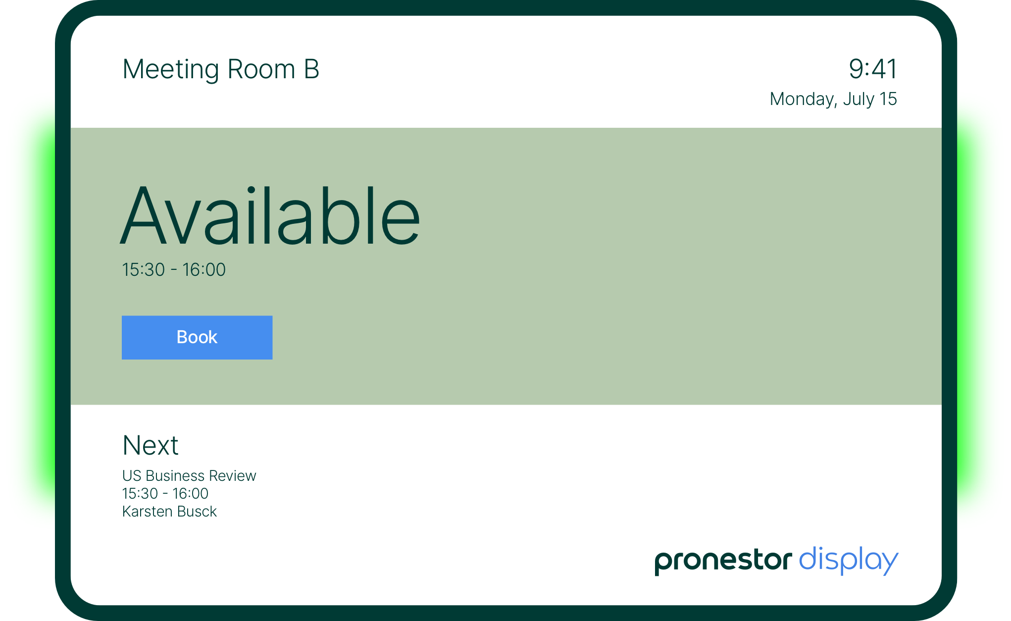Show if your meeting rooms are available